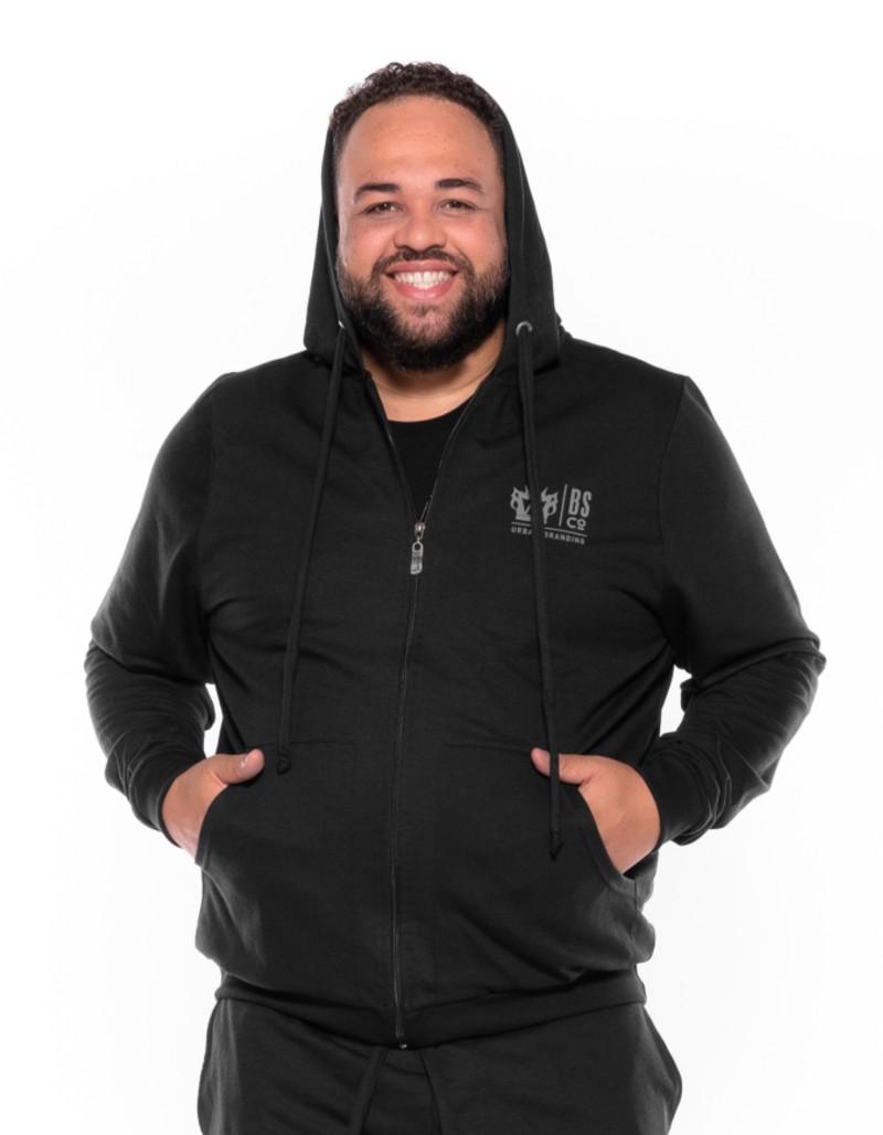 Blusão Moletom plus size BS Preto
