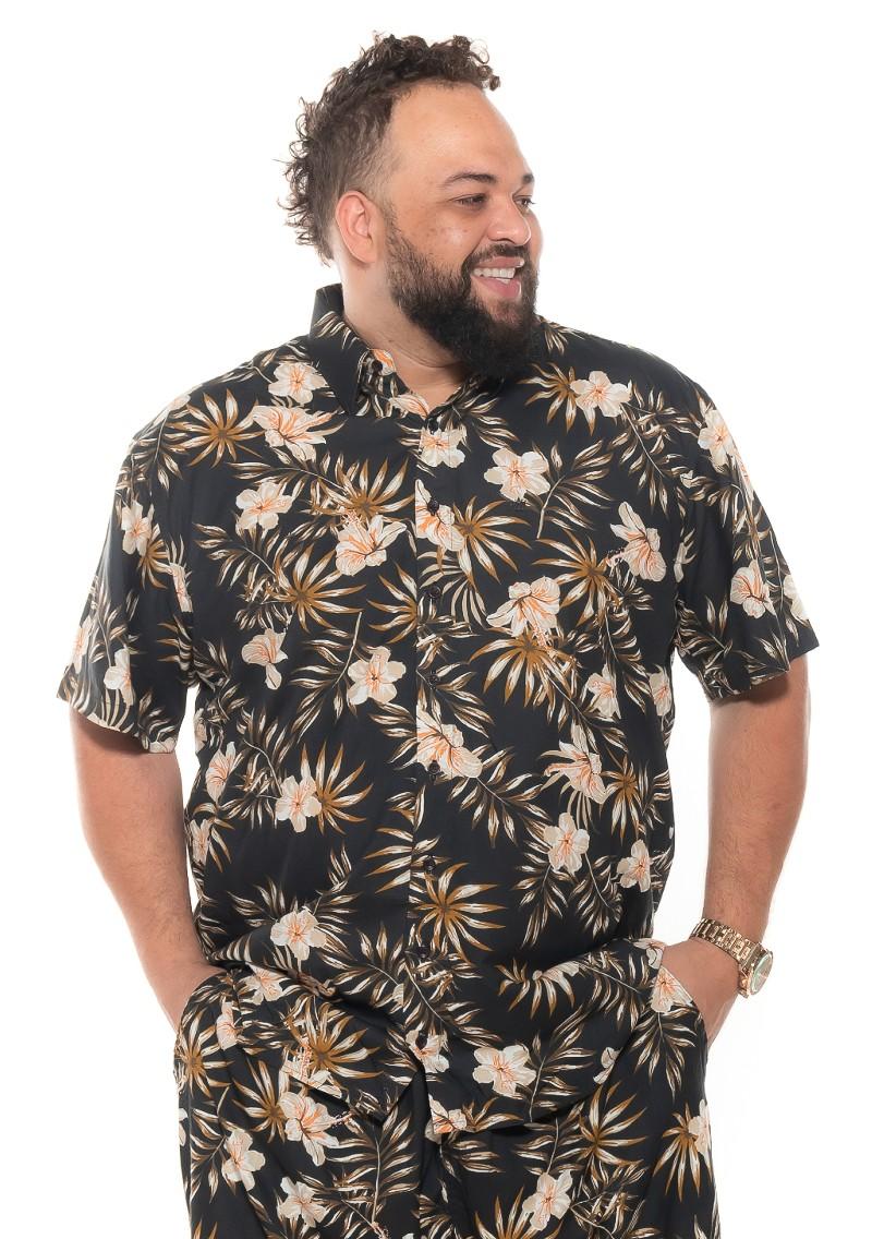 Camisa plus size Manga Curta Summer Bora