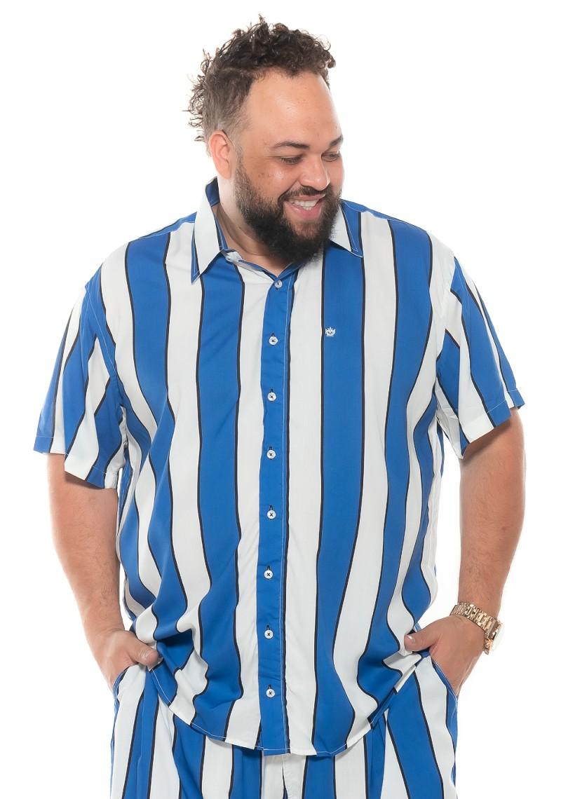 Camisa plus size Manga Curta Summer Listra