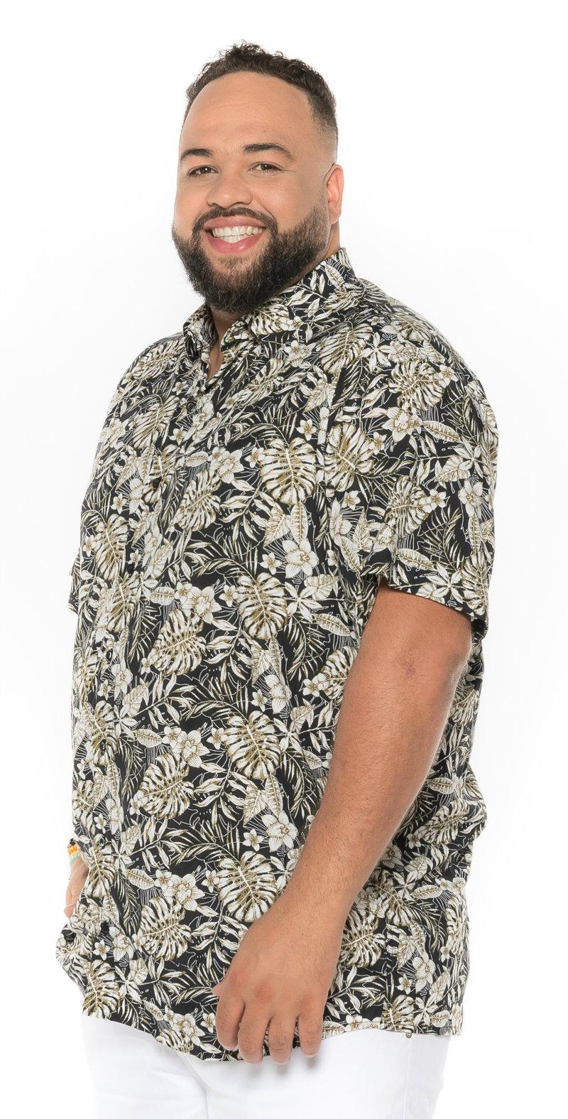 Camisa plus size Manga Curta Summer Maiorca