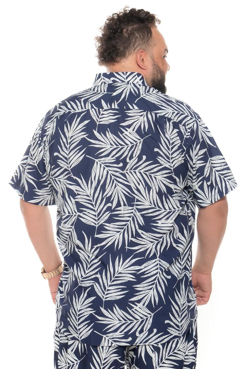 Camisa plus size Manga Curta Summer Plant