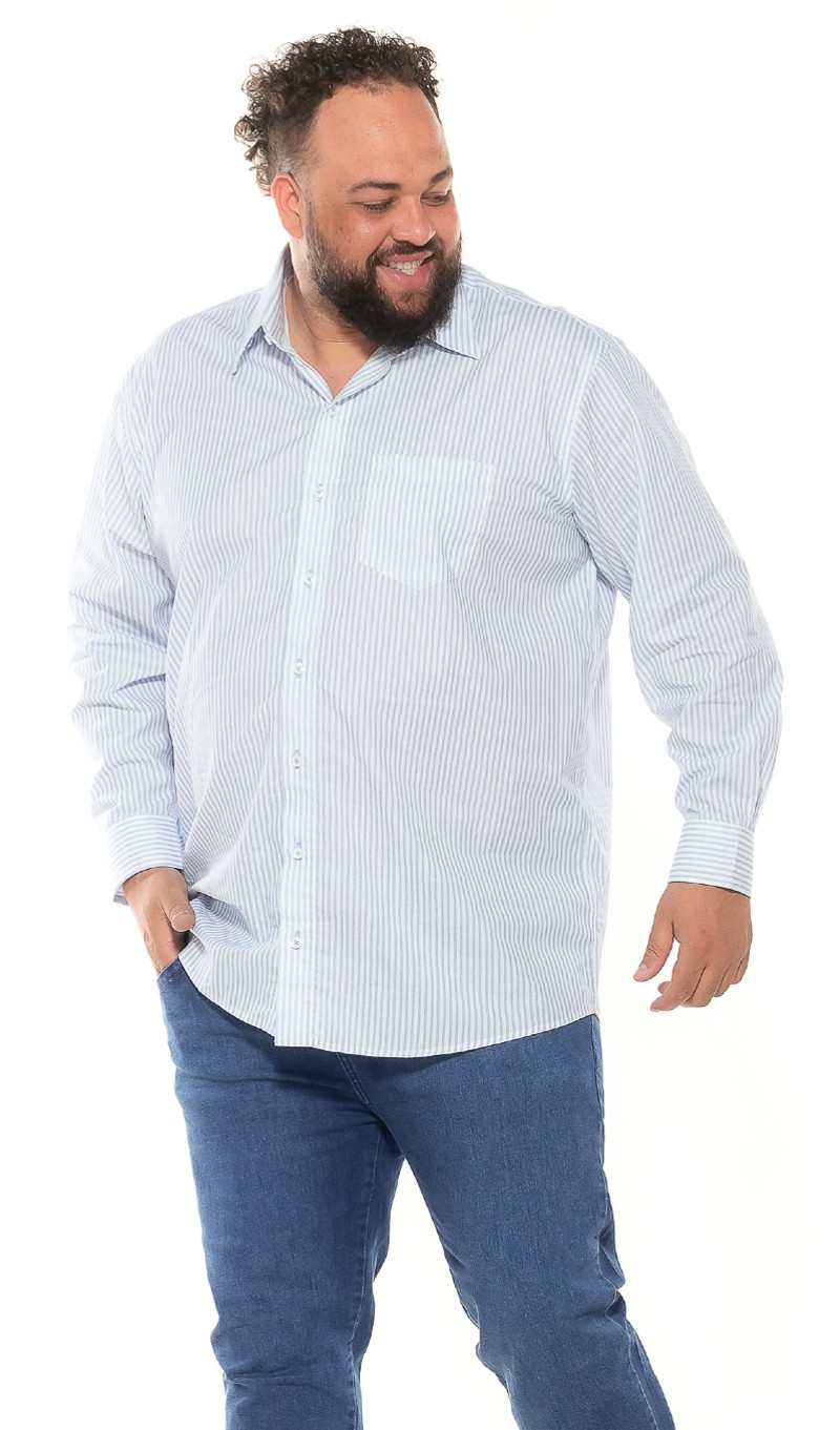 Camisa plus size Manga Longa Listra Classic