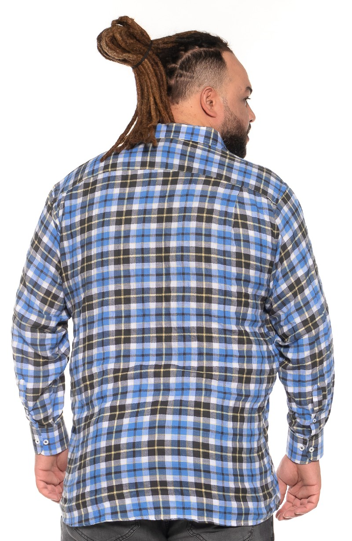 Camisa plus size Xadrez Manga Longa X