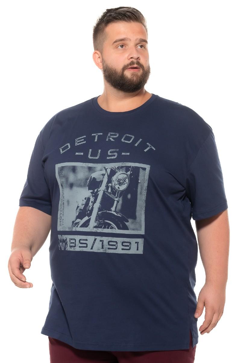 Camiseta plus size Detroit Marinho