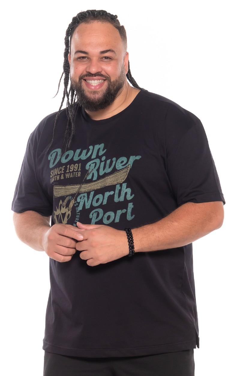 Camiseta plus size Down River Preta