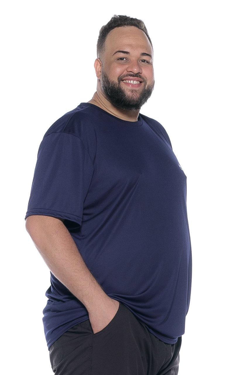 Camiseta plus size Dry Fit Azul Marinho