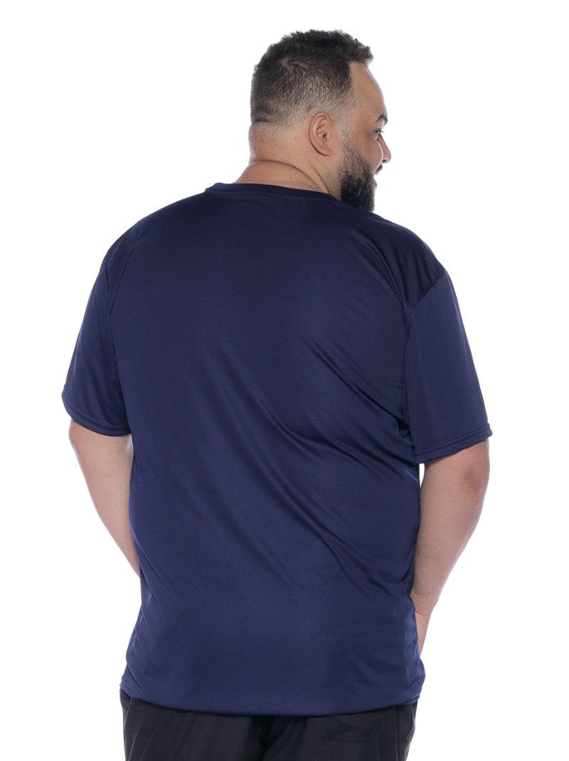 Camiseta plus size Dry Marinho