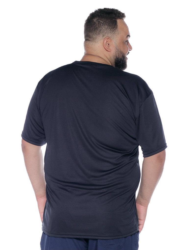 Camiseta plus size Dry Fit Preta