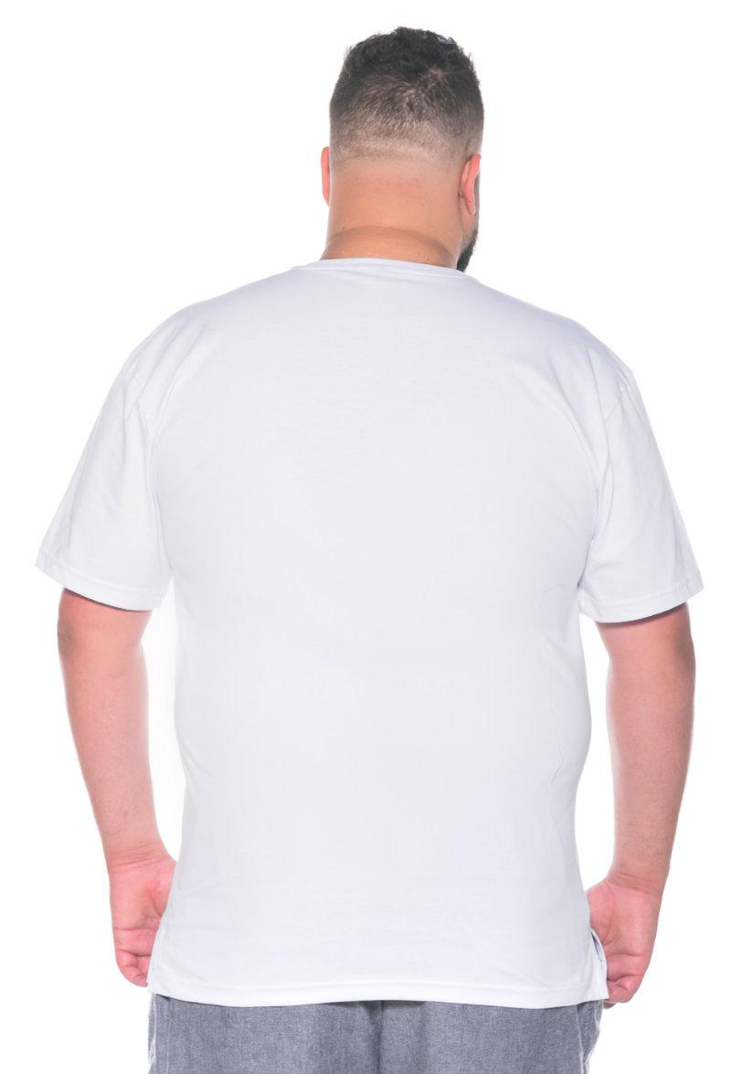 Camiseta plus size estampa Beer Branca