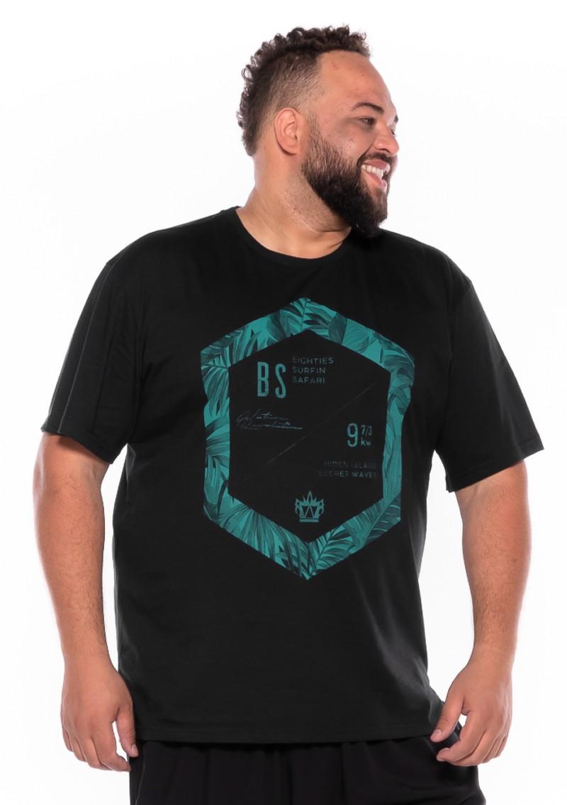 Camiseta plus size estampa BS Preta