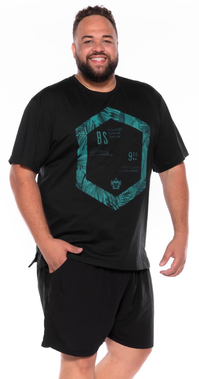 Camiseta plus size BS Preta