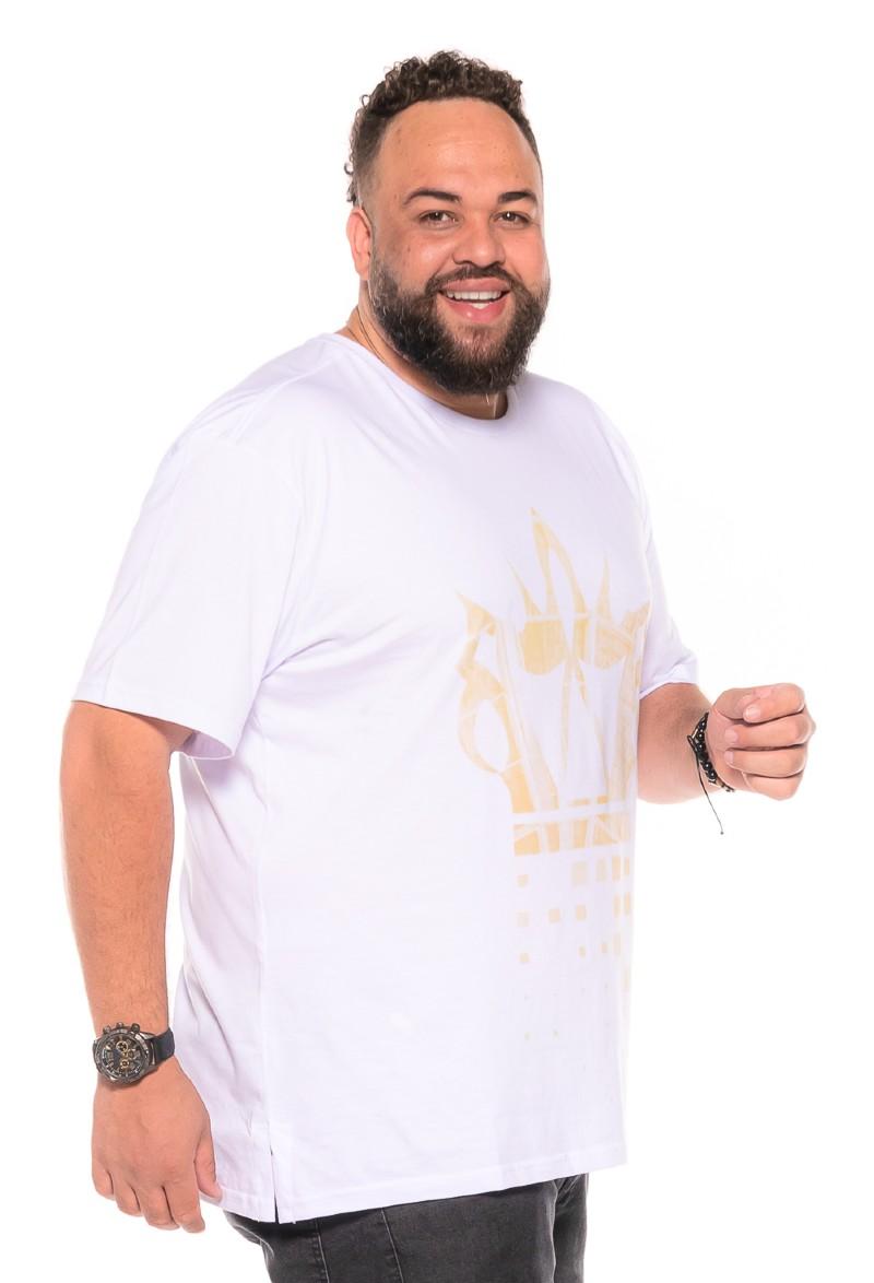 Camiseta plus size Design Branca