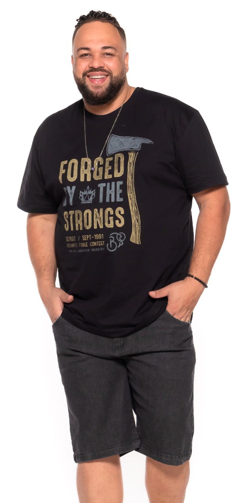 Camiseta plus size Forged Preta