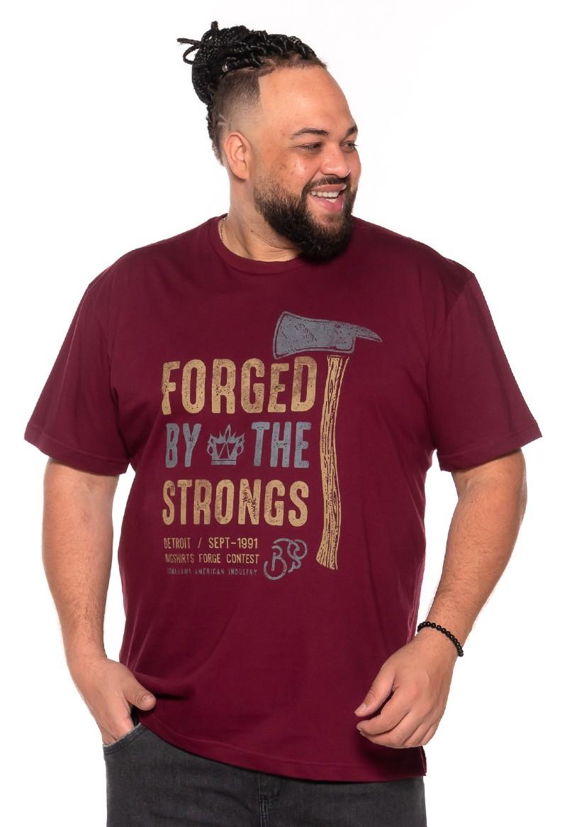 Camiseta plus size Forged Vinho