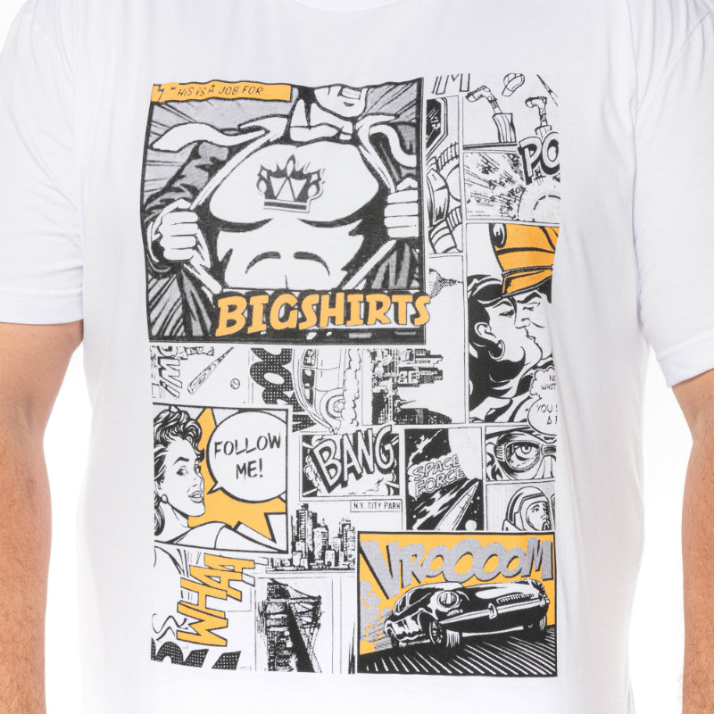 Camiseta plus size estampa Gibi Branca
