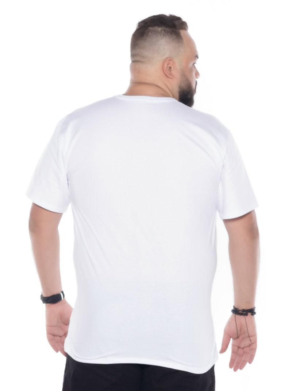 Camiseta plus size estampa Mapa Branca