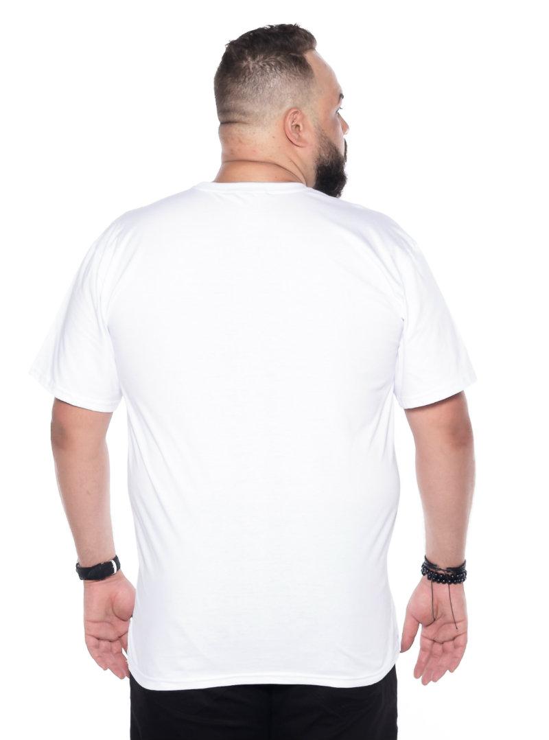 Camiseta plus size estampa Parede Branca