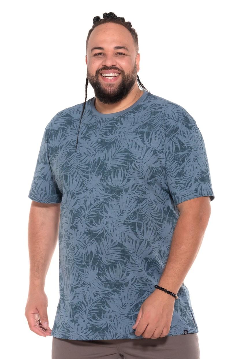 Camiseta plus size Floral Verde