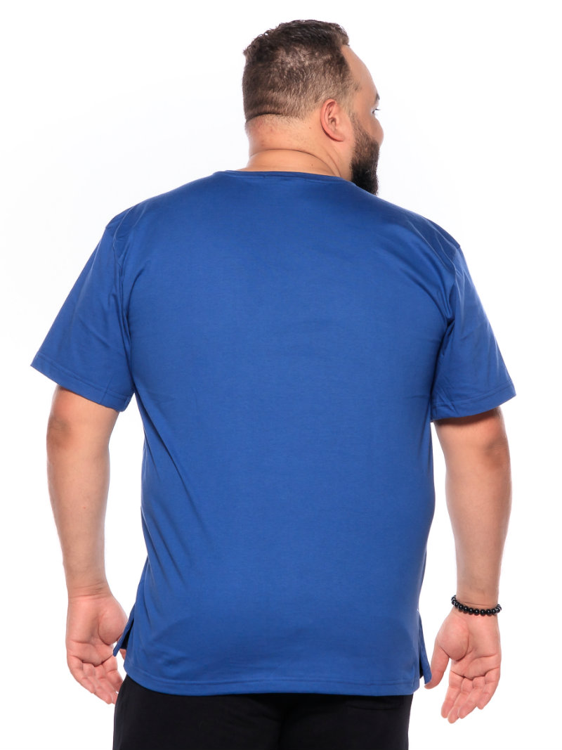 Camiseta plus size Lisa Azul