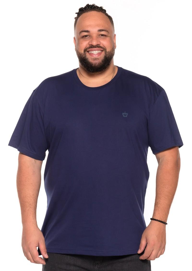 Camiseta plus size Azul Marinho