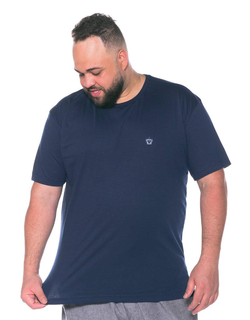 Camiseta plus size Lisa Azul Marinho