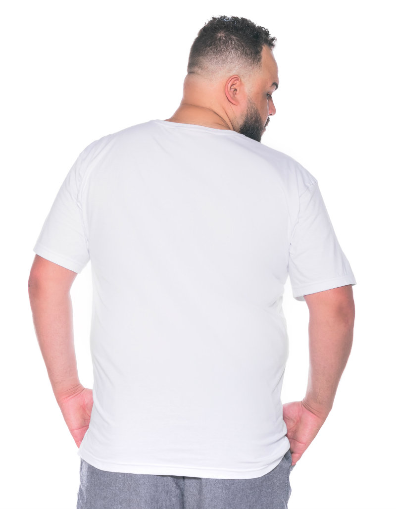 Camiseta plus size Lisa Branca
