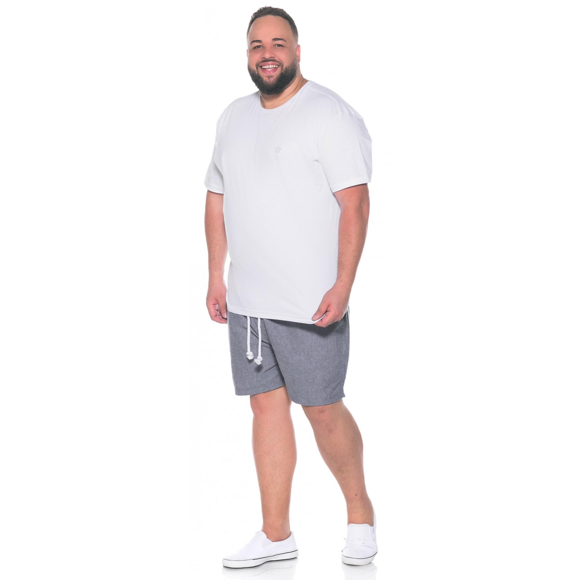 Camiseta plus size Lisa Branca