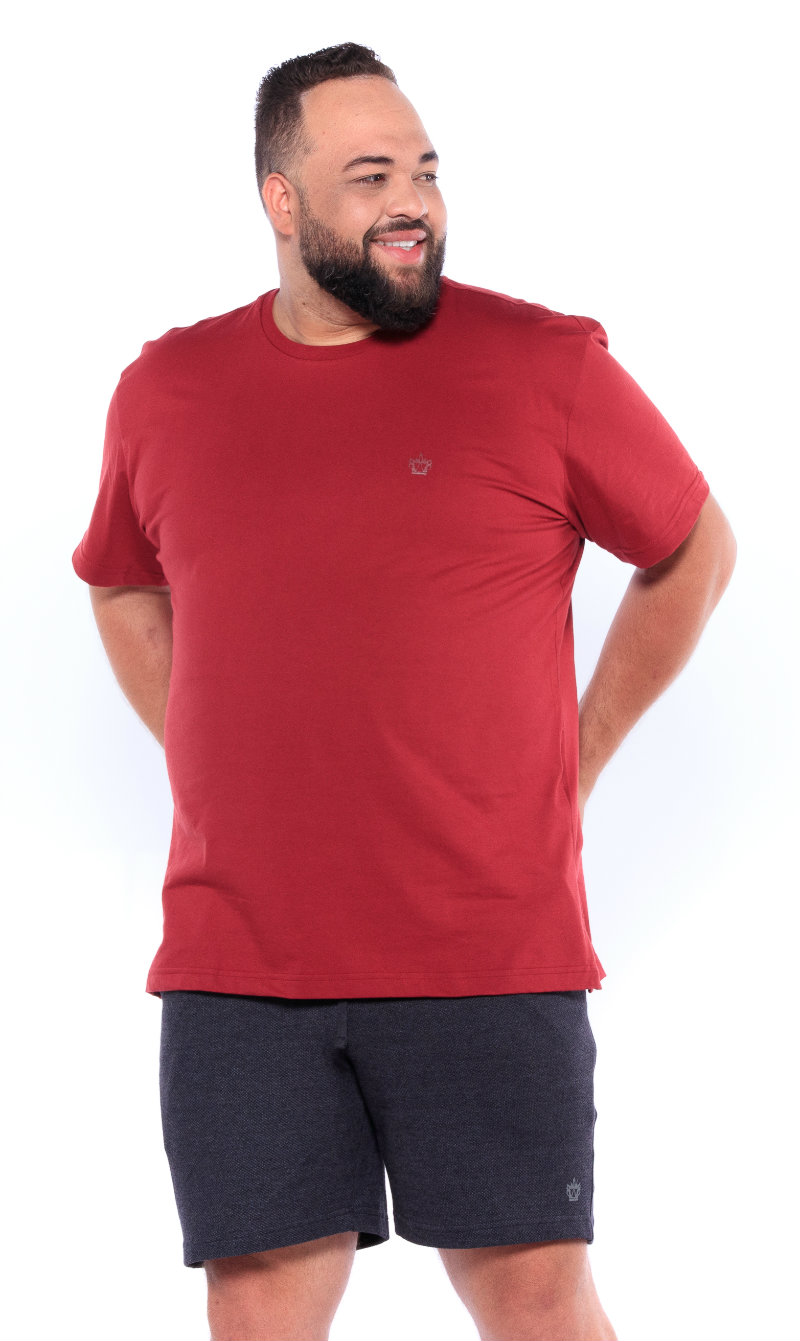 Camiseta plus size Lisa Cereja