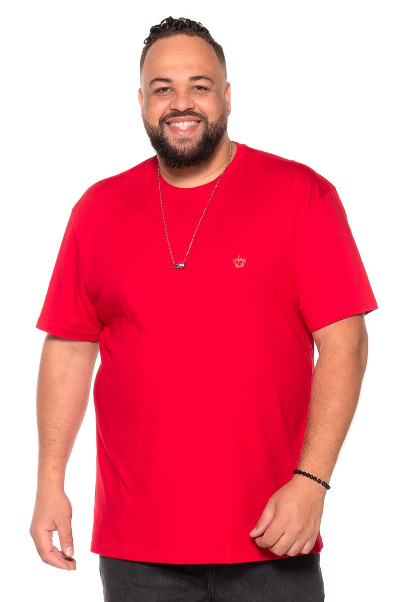 Camiseta plus size Vermelha