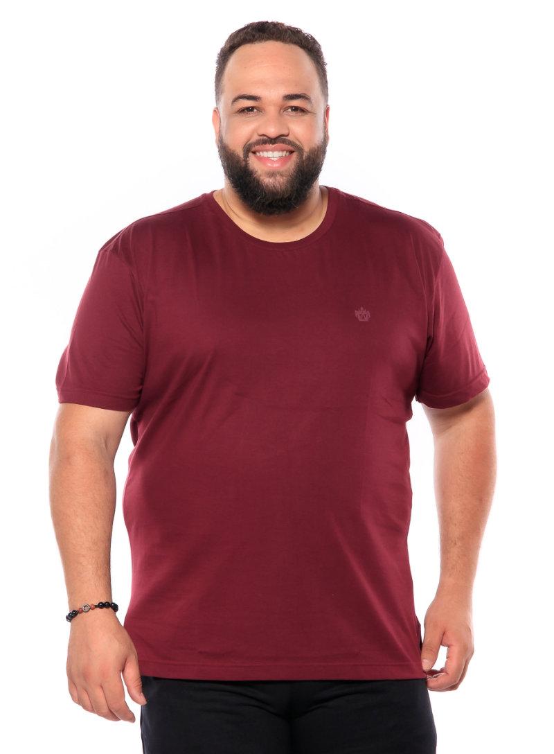 Camiseta plus size Vinho