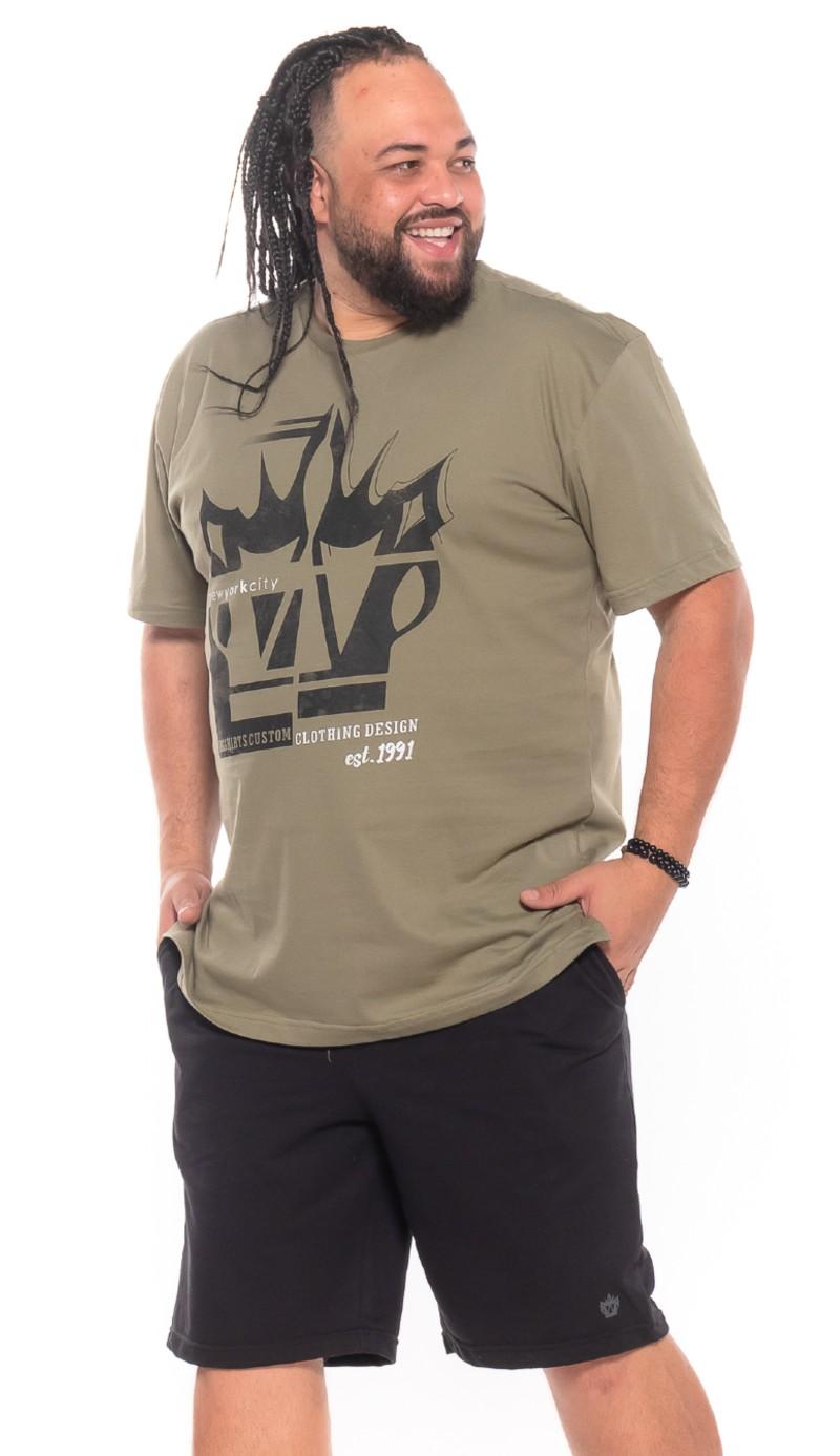 Camiseta plus size New 3D Bambu