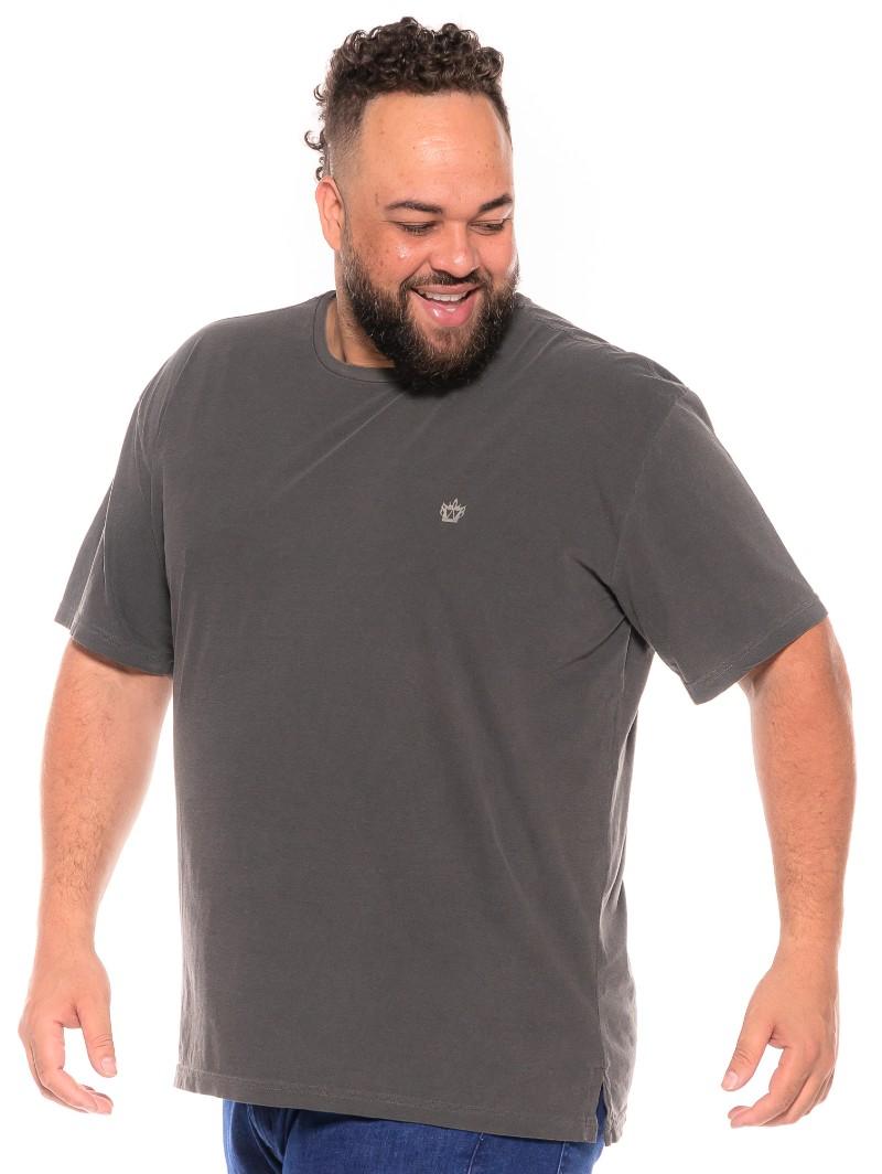 Camiseta plus size Stone Preta