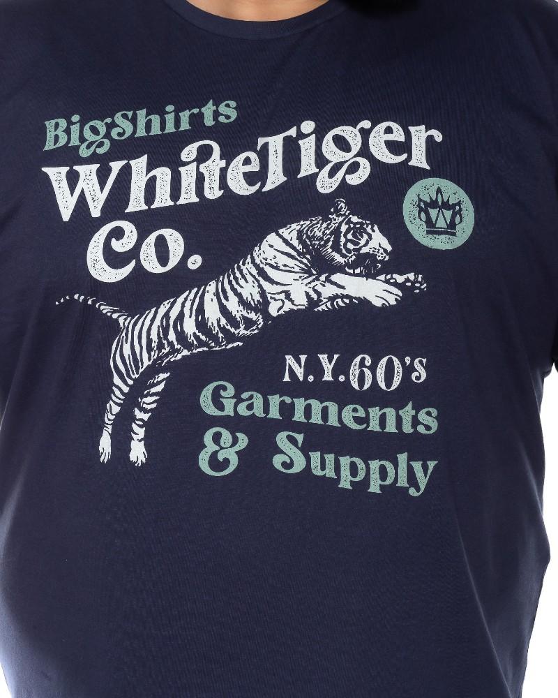 Camiseta plus size Tiger Marinho