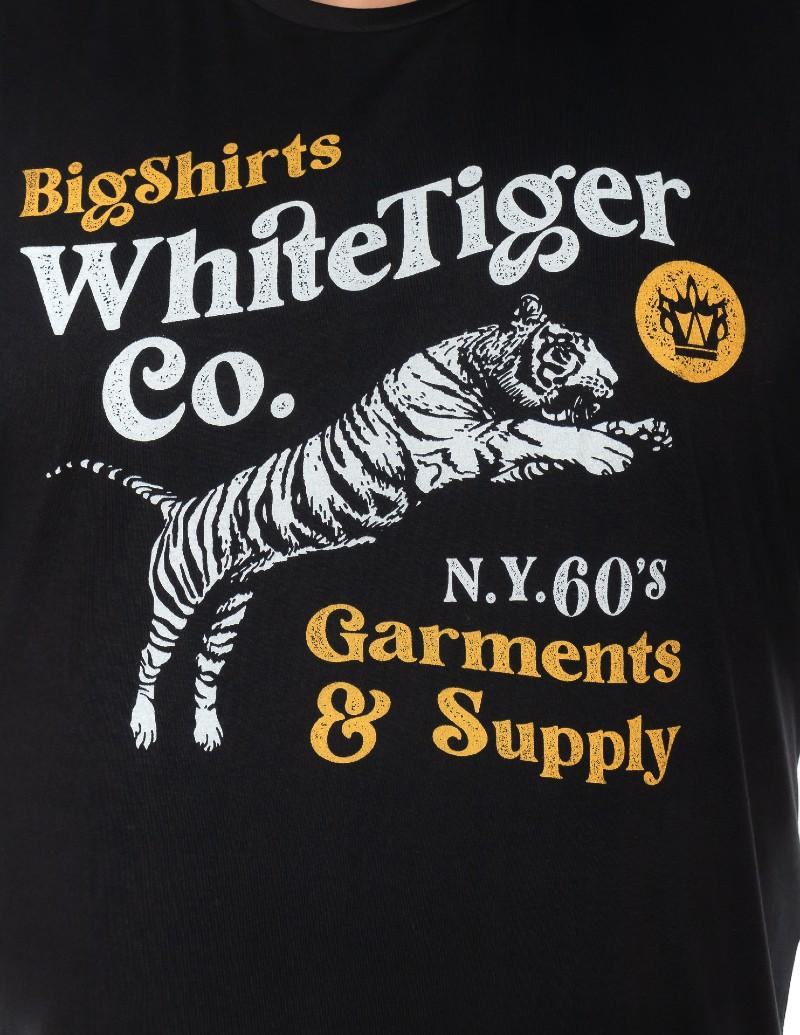 Camiseta plus size Tiger Preta