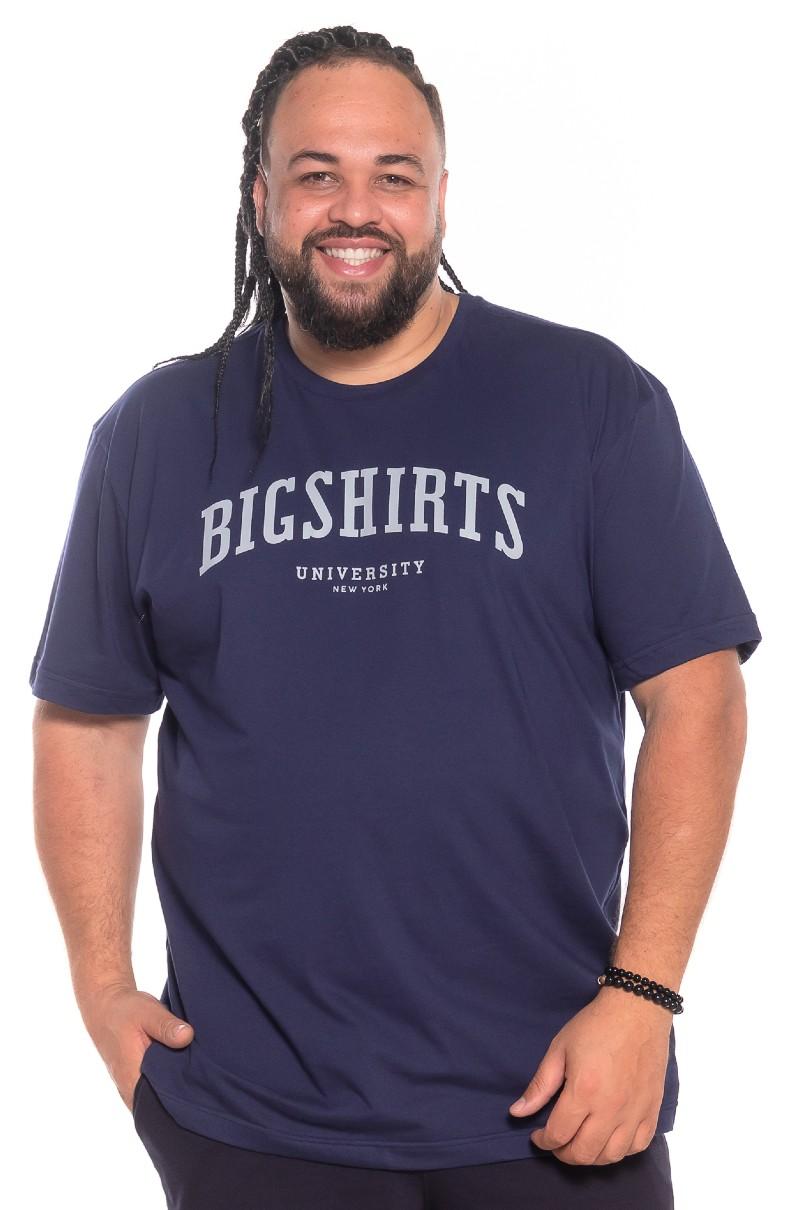 Camiseta plus size University Marinho