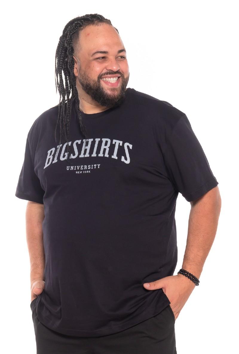 Camiseta plus size University Preta