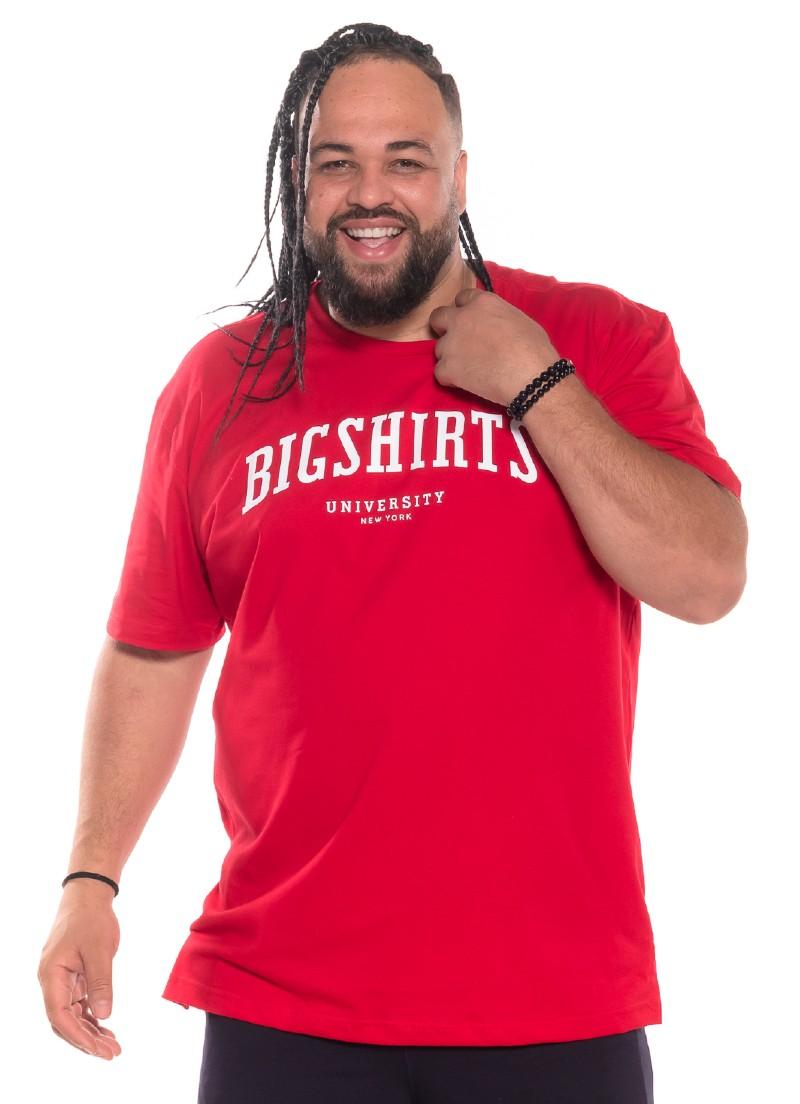Camiseta plus size University Vermelha