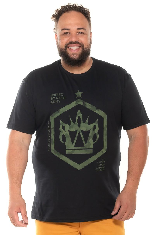 Camiseta plus size UsArmy Preta