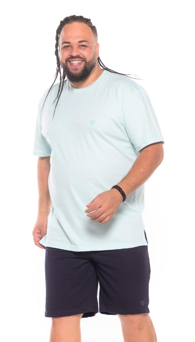 Camiseta plus size Verde Água