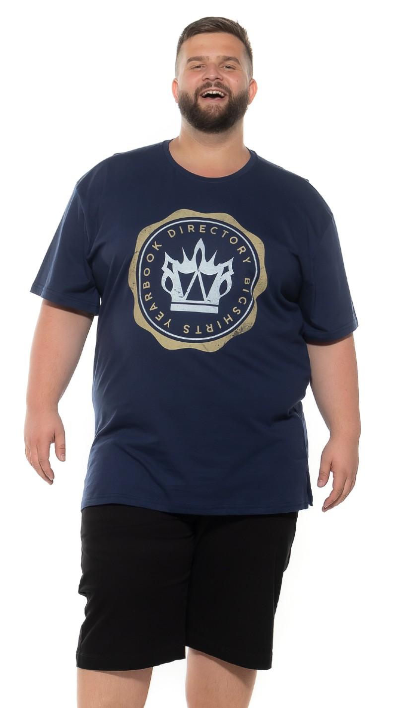 Camiseta plus size Yearbook Marinho