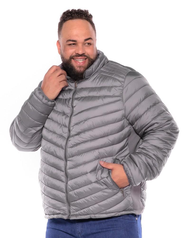 Jaqueta Gomo plus size Cinza