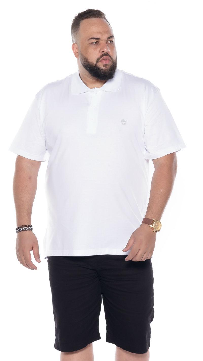 Polo plus size Lisa Branca