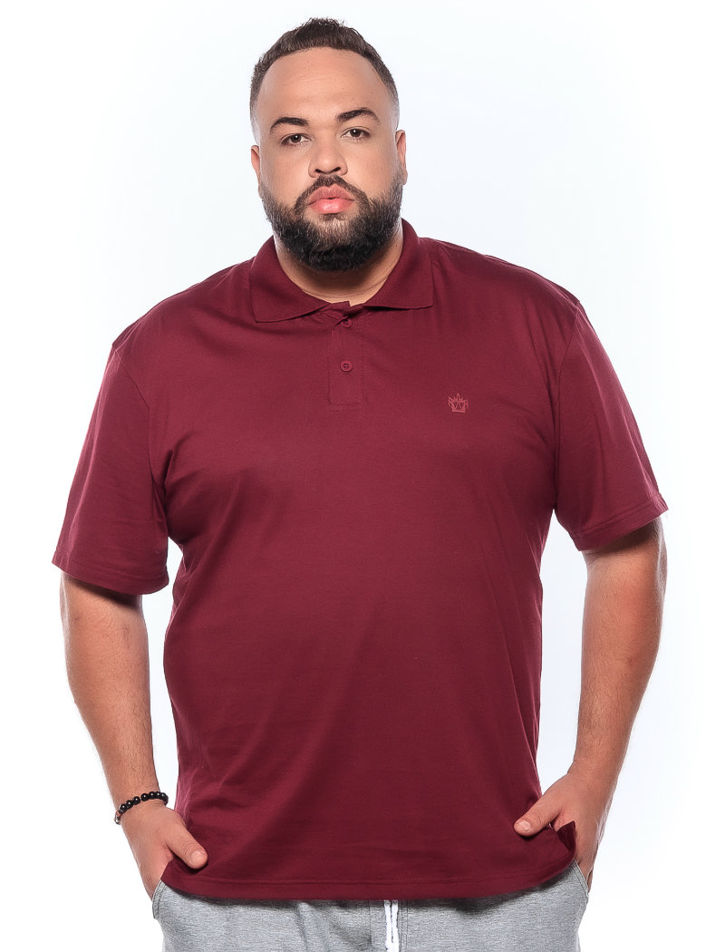 Polo plus size Lisa Vinho