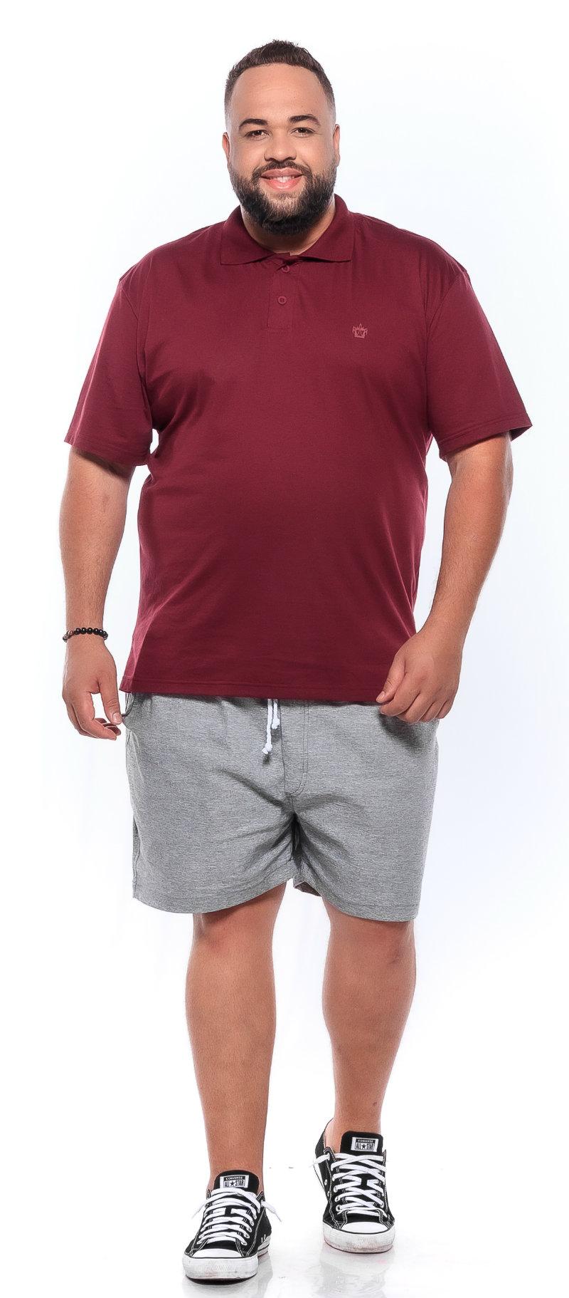 Polo plus size Lisa Vinho