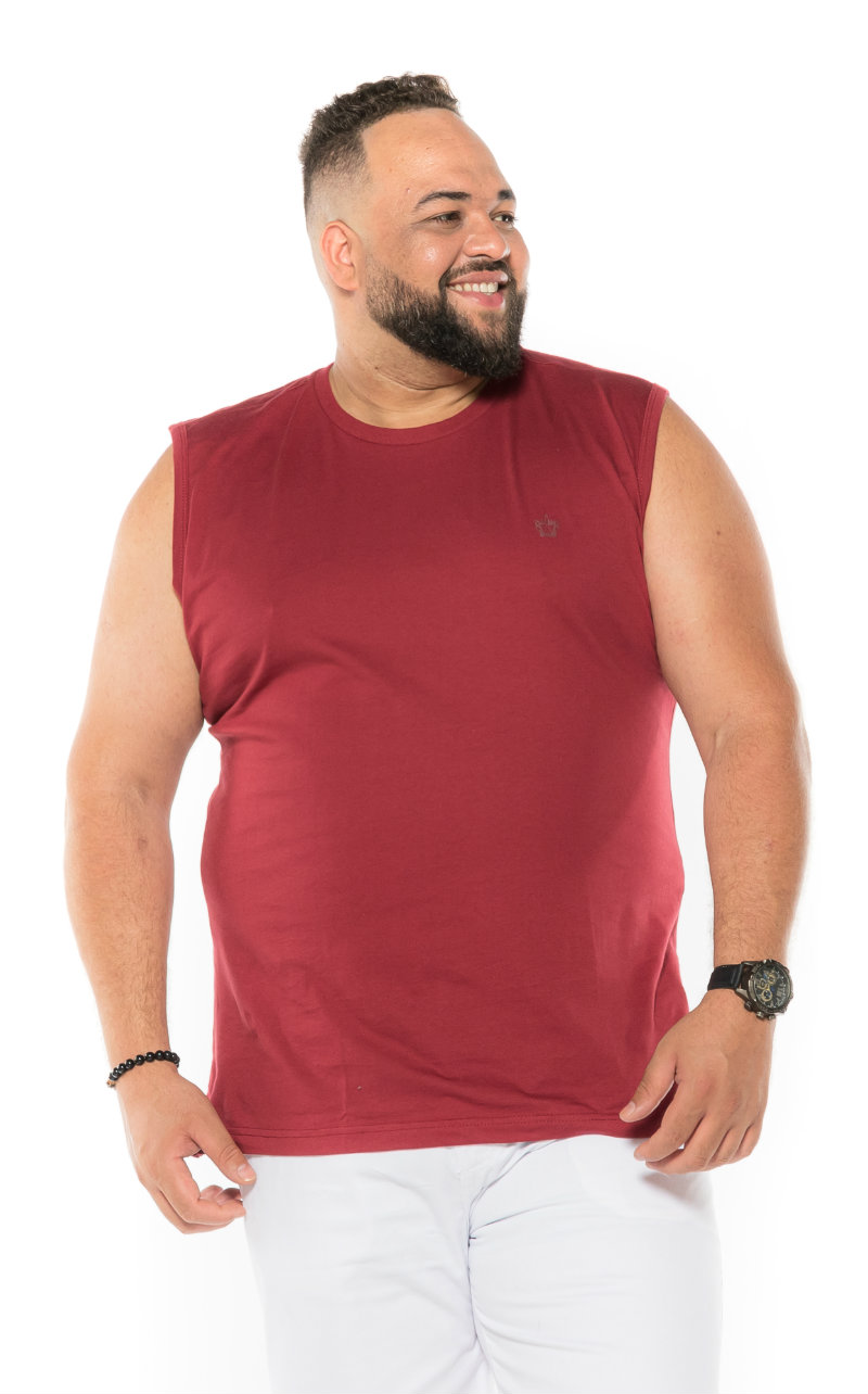 Regata Machão plus size Cereja