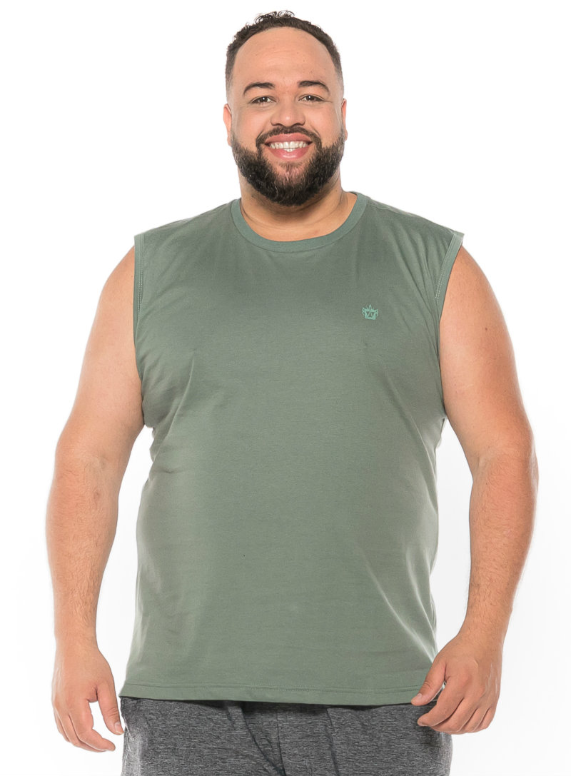 Regata Machão plus size Verde