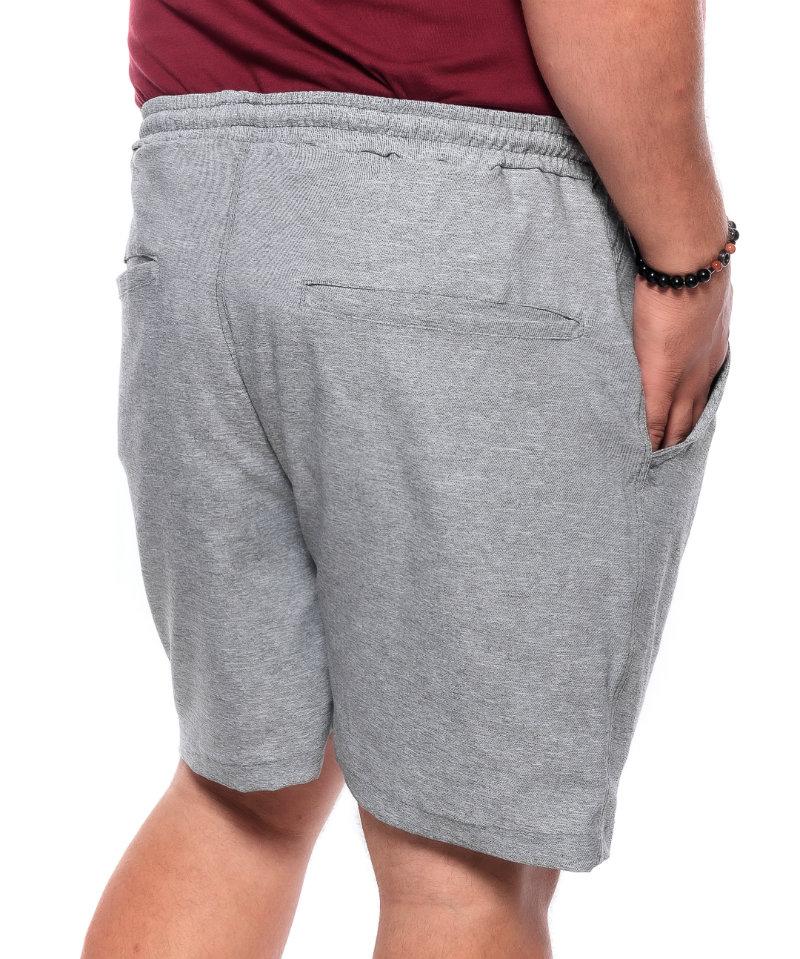 Shorts plus size Basic Cinza