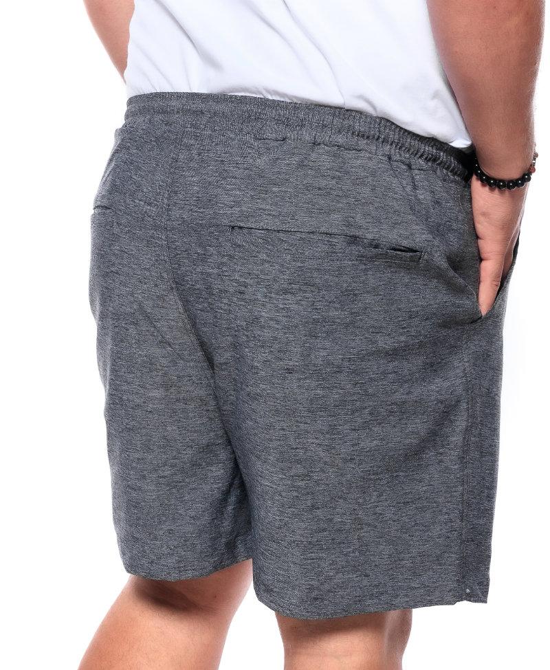 Shorts plus size Basic Mescla Escuro