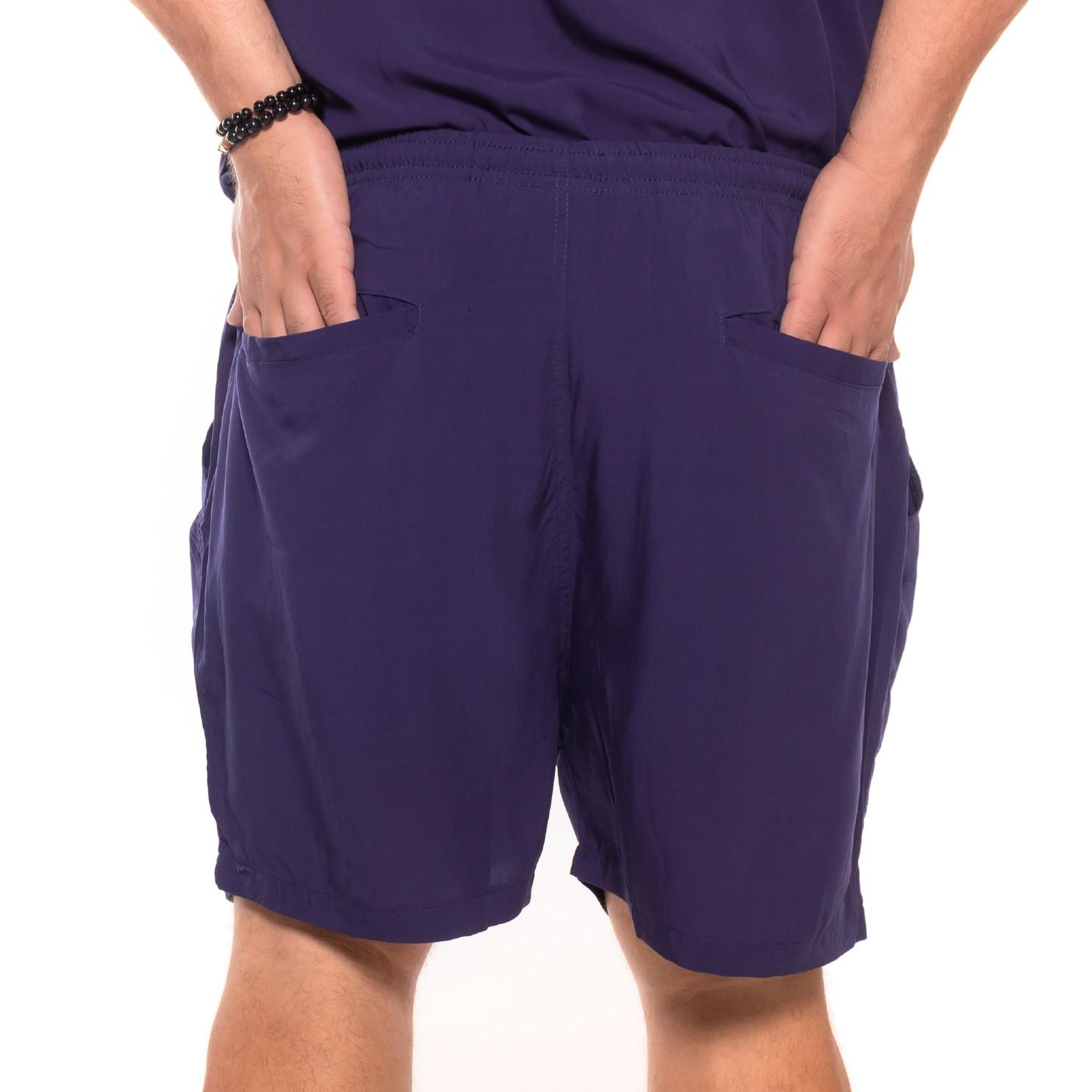 Shorts plus size Summer Viscose Azul Marinho