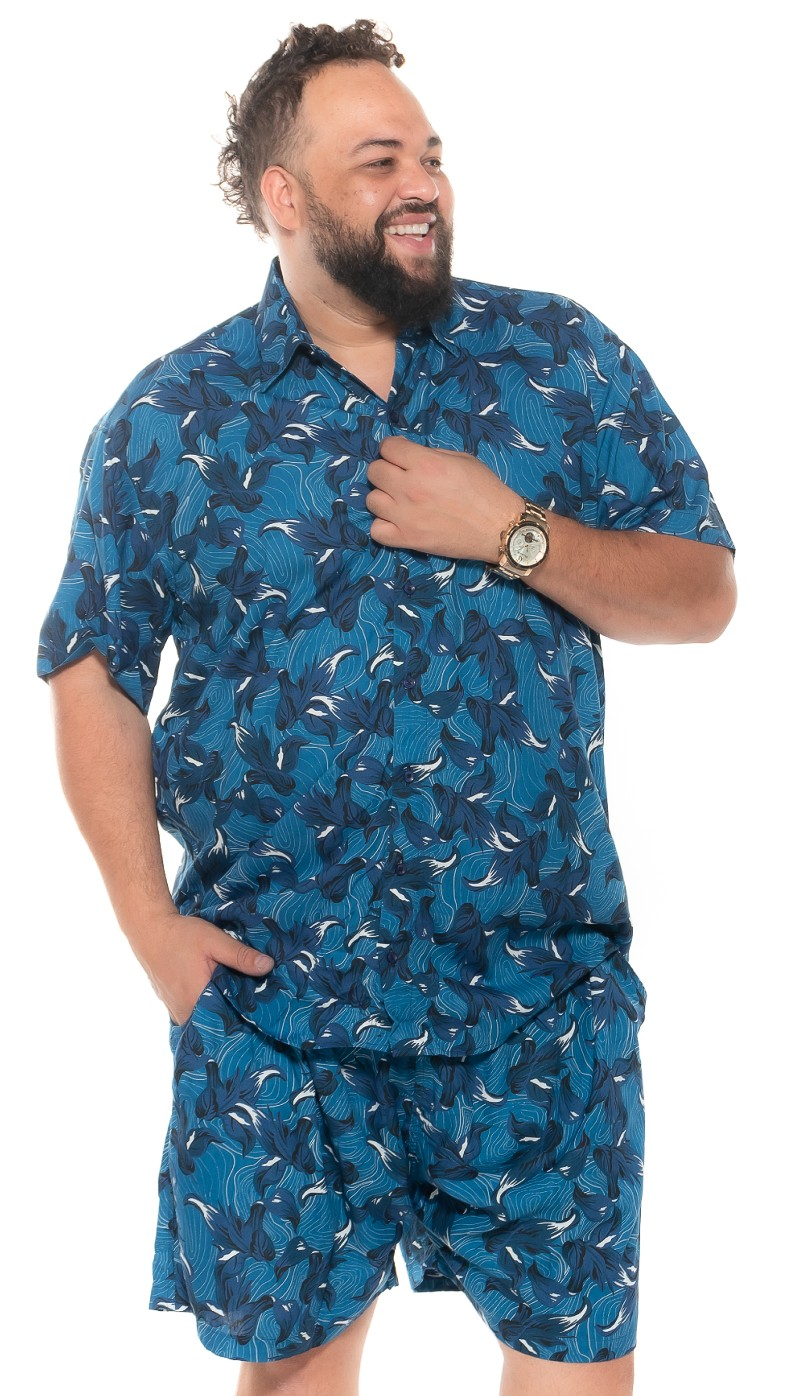 Shorts plus size Summer Viscose Fiji